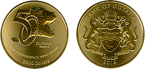 2000 50 anniversary coin